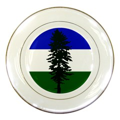 Flag Of Cascadia Porcelain Plates by abbeyz71