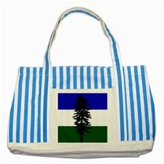 Flag Of Cascadia Striped Blue Tote Bag by abbeyz71