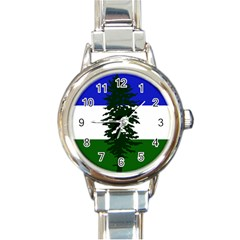Flag 0f Cascadia Round Italian Charm Watch by abbeyz71