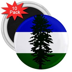 Flag 0f Cascadia 3  Magnets (10 Pack)  by abbeyz71