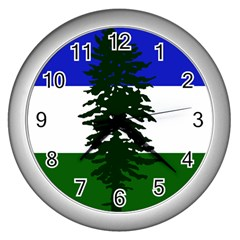 Flag 0f Cascadia Wall Clocks (silver)  by abbeyz71