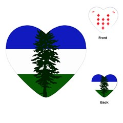 Flag 0f Cascadia Playing Cards (heart)  by abbeyz71