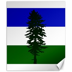 Flag 0f Cascadia Canvas 8  X 10  by abbeyz71