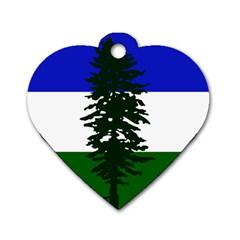 Flag 0f Cascadia Dog Tag Heart (one Side) by abbeyz71