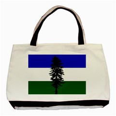 Flag 0f Cascadia Basic Tote Bag (two Sides) by abbeyz71