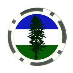 Flag 0f Cascadia Poker Chip Card Guard by abbeyz71