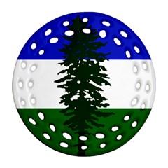 Flag 0f Cascadia Round Filigree Ornament (two Sides) by abbeyz71