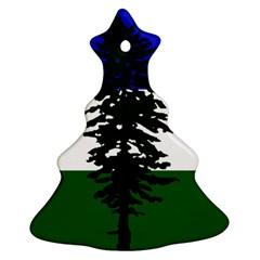 Flag 0f Cascadia Christmas Tree Ornament (two Sides) by abbeyz71