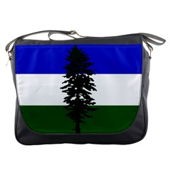 Flag 0f Cascadia Messenger Bags by abbeyz71