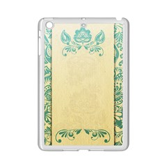 Art Nouveau Green Ipad Mini 2 Enamel Coated Cases by 8fugoso