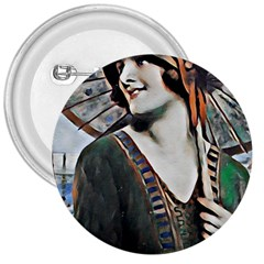 Lady Of Summer 1920 Art Deco 3  Buttons by 8fugoso