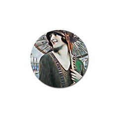 Lady Of Summer 1920 Art Deco Golf Ball Marker (10 Pack) by 8fugoso