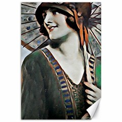 Lady Of Summer 1920 Art Deco Canvas 12  X 18   by 8fugoso
