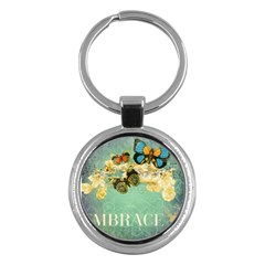Embrace Shabby Chic Collage Key Chains (round)  by 8fugoso