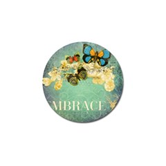 Embrace Shabby Chic Collage Golf Ball Marker (4 Pack) by 8fugoso