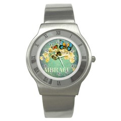 Embrace Shabby Chic Collage Stainless Steel Watch by 8fugoso