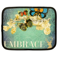 Embrace Shabby Chic Collage Netbook Case (xxl)
