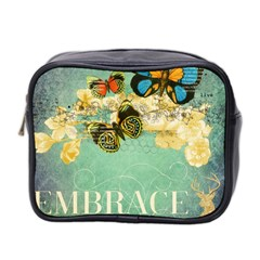 Embrace Shabby Chic Collage Mini Toiletries Bag 2 Side by 8fugoso