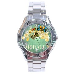 Embrace Shabby Chic Collage Stainless Steel Analogue Watch by 8fugoso