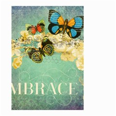 Embrace Shabby Chic Collage Small Garden Flag (two Sides) by 8fugoso
