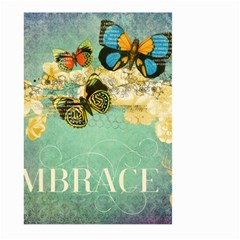 Embrace Shabby Chic Collage Large Garden Flag (two Sides) by 8fugoso