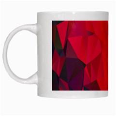 Triangle Geometric Mosaic Pattern White Mugs