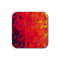Triangle Geometric Mosaic Pattern Rubber Coaster (square)