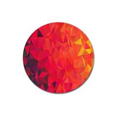 Triangle Geometric Mosaic Pattern Magnet 3  (round)