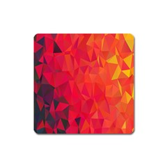 Triangle Geometric Mosaic Pattern Square Magnet by Nexatart