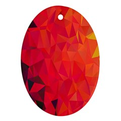 Triangle Geometric Mosaic Pattern Oval Ornament (two Sides)