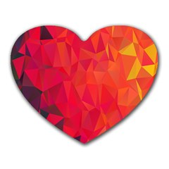 Triangle Geometric Mosaic Pattern Heart Mousepads by Nexatart