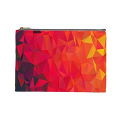 Triangle Geometric Mosaic Pattern Cosmetic Bag (large)