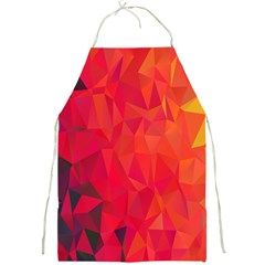 Triangle Geometric Mosaic Pattern Full Print Aprons by Nexatart