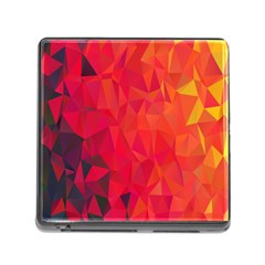 Triangle Geometric Mosaic Pattern Memory Card Reader (square)