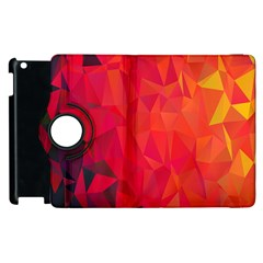Triangle Geometric Mosaic Pattern Apple Ipad 3/4 Flip 360 Case