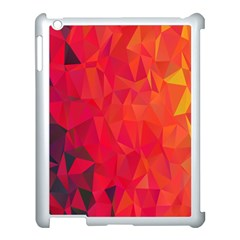 Triangle Geometric Mosaic Pattern Apple Ipad 3/4 Case (white)