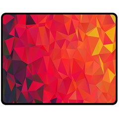 Triangle Geometric Mosaic Pattern Double Sided Fleece Blanket (medium)