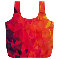 Triangle Geometric Mosaic Pattern Full Print Recycle Bags (l)