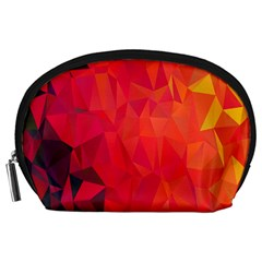 Triangle Geometric Mosaic Pattern Accessory Pouches (large)