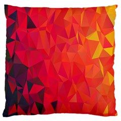 Triangle Geometric Mosaic Pattern Standard Flano Cushion Case (two Sides)