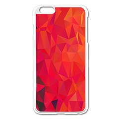 Triangle Geometric Mosaic Pattern Apple Iphone 6 Plus/6s Plus Enamel White Case
