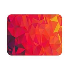 Triangle Geometric Mosaic Pattern Double Sided Flano Blanket (mini)