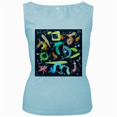 Repetition Seamless Child Sketch Women s Baby Blue Tank Top by Nexatart