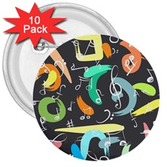 Repetition Seamless Child Sketch 3  Buttons (10 Pack)