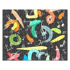 Repetition Seamless Child Sketch Rectangular Jigsaw Puzzl