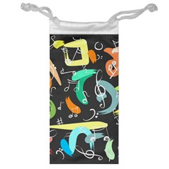 Repetition Seamless Child Sketch Jewelry Bag