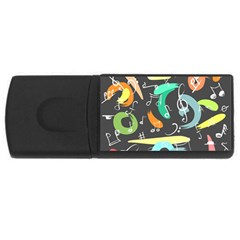 Repetition Seamless Child Sketch Rectangular Usb Flash Drive
