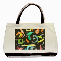 Repetition Seamless Child Sketch Basic Tote Bag by Nexatart
