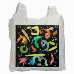Repetition Seamless Child Sketch Recycle Bag (one Side)