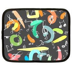 Repetition Seamless Child Sketch Netbook Case (xxl)